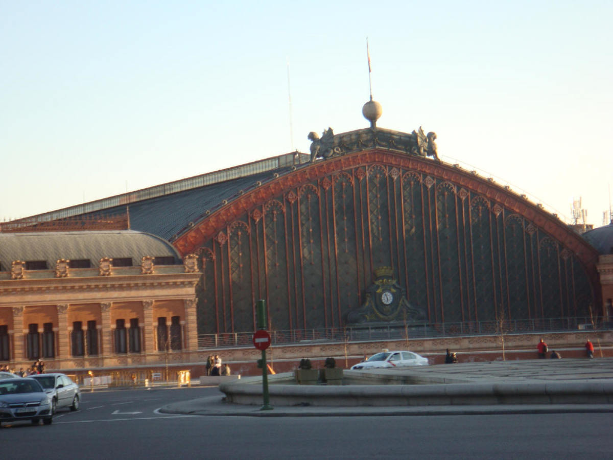 Atocha's original building, which hosts the greenhouse