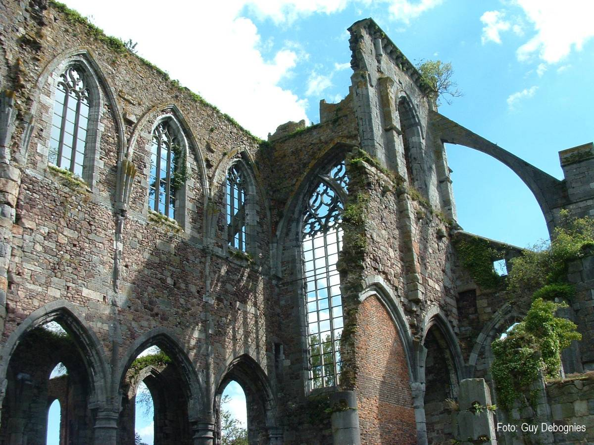 ABBEY AT AULNE, BELGIUM, BURNED BY FRENCH ATHEISTS