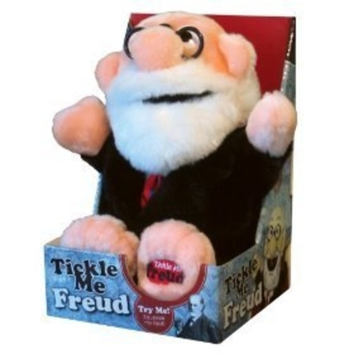 tickle me freud plush doll laugh