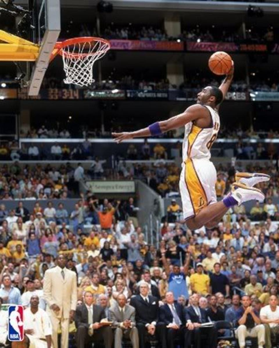 Kobe Bryant Soaring Up For A Dunk. - Image Courtesy of NBA.com