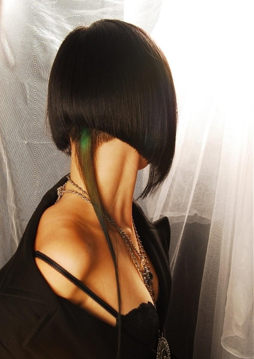 inverted bob haircut back view