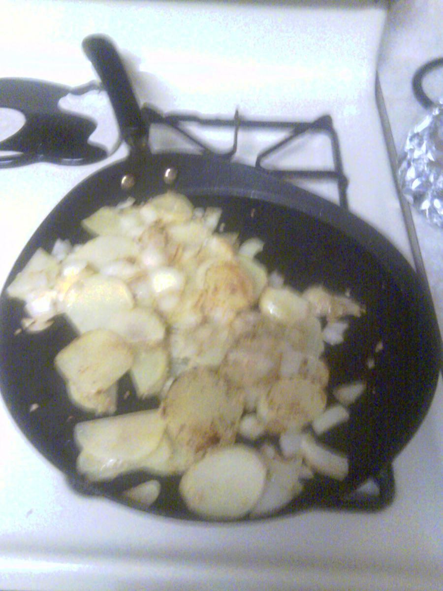 This is how your potatoes will look before you micro wave them about 1 1/2 minutes.