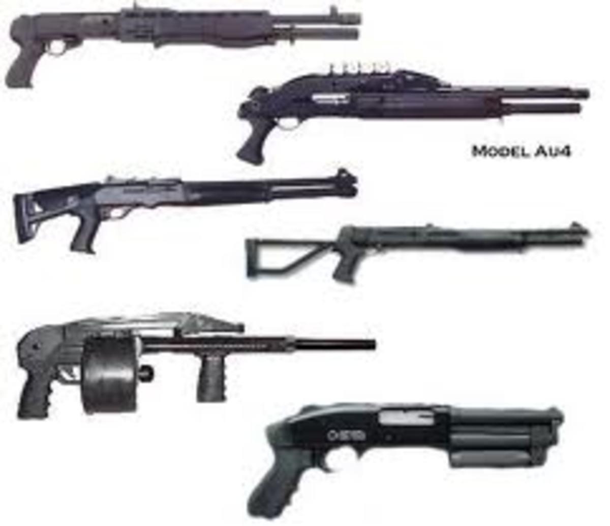 Various shotguns