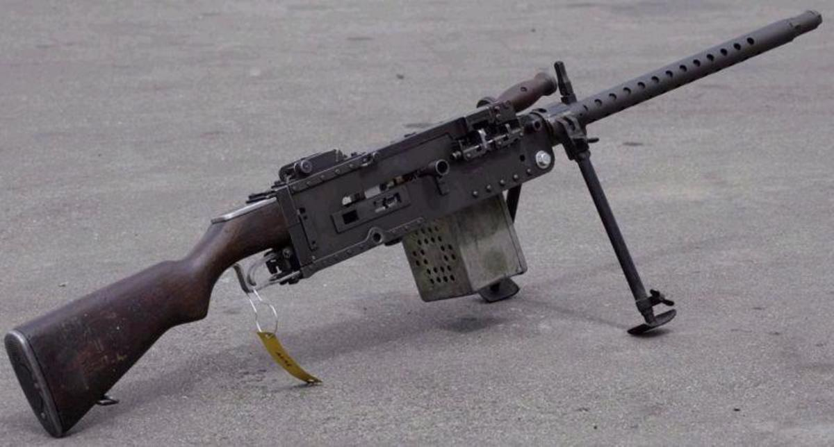 "One of the very rare ""Stinger"" improvised LMGs"