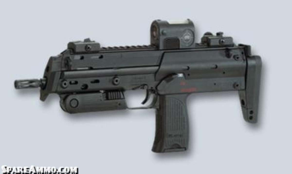 MP7 PDW firing 4.7mm PDW rounds