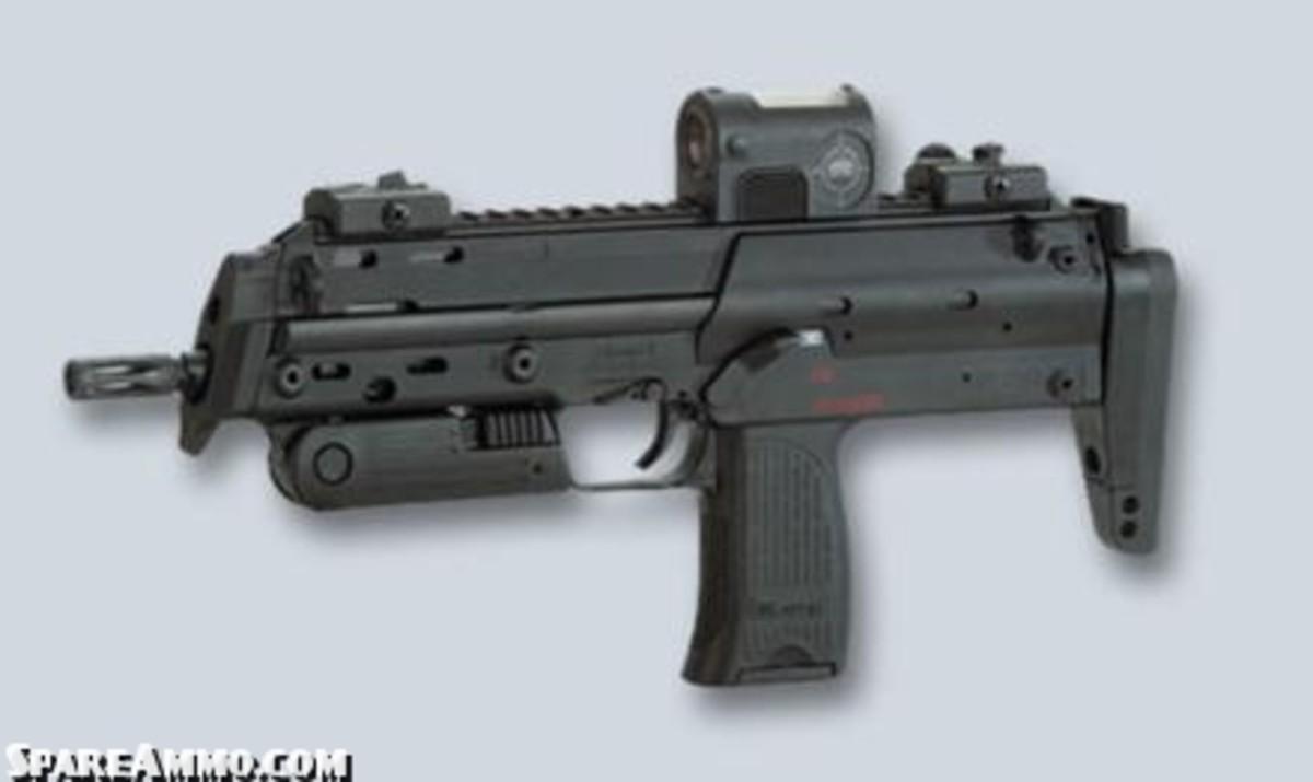 MP7 PDW firing 4.7mm PDW rounds