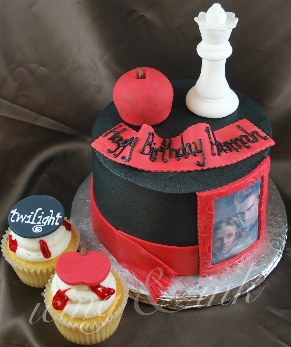 Twilight Birthday Cakes, Cupcake and Cookie Ideas
