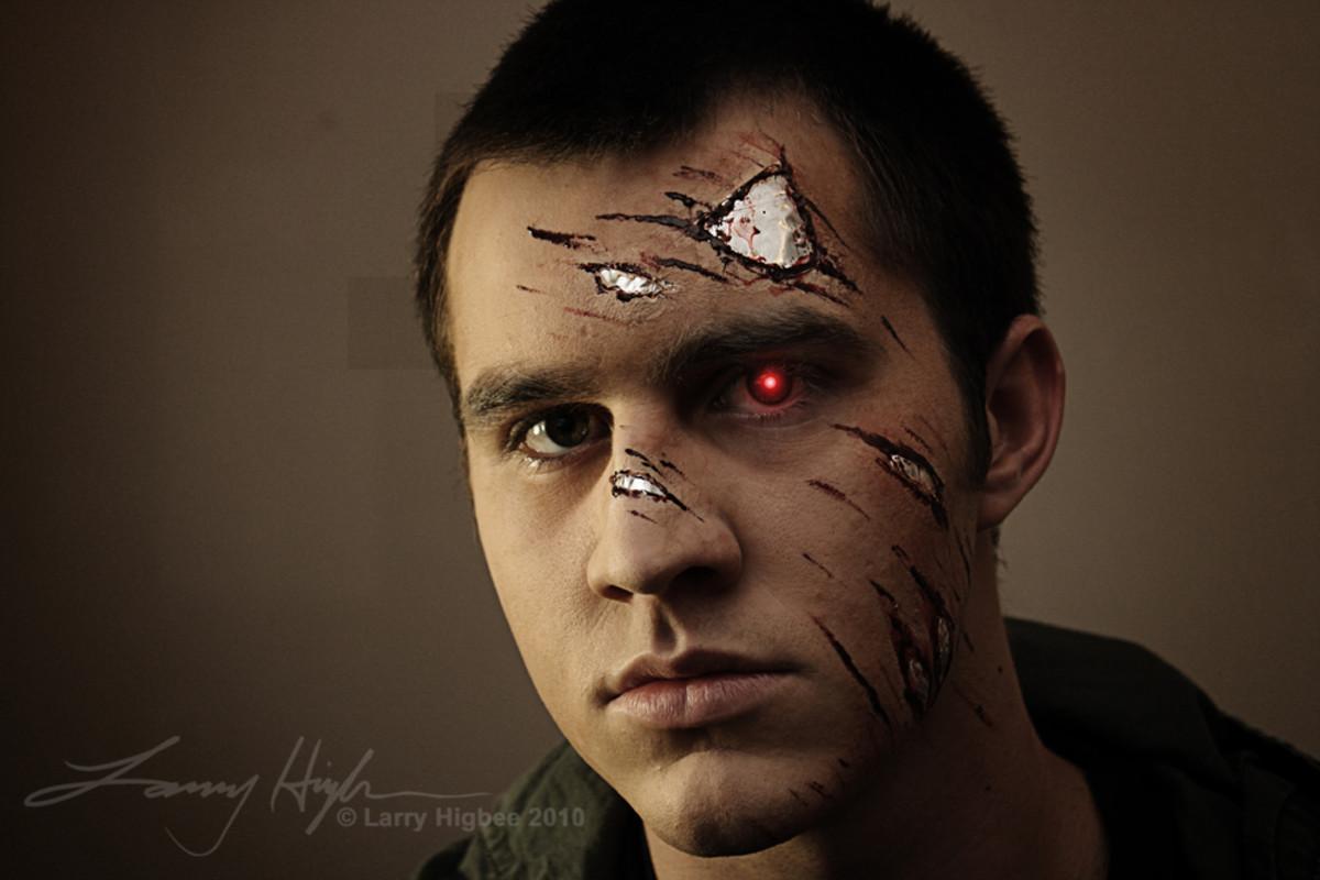 Simple Terminator Makeup Tutorial