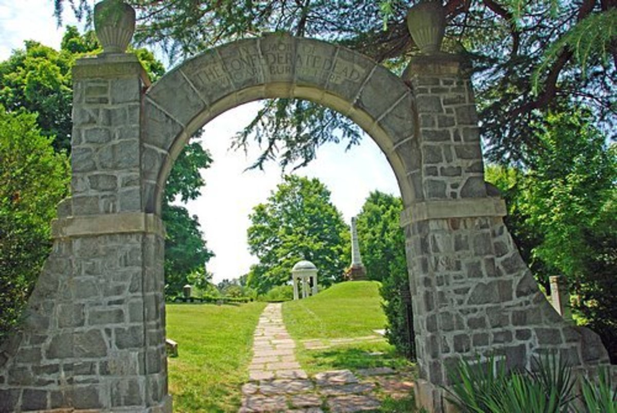 Archway to the Confederate Cemetery in the Old City Cemetery in Lynchburg VA