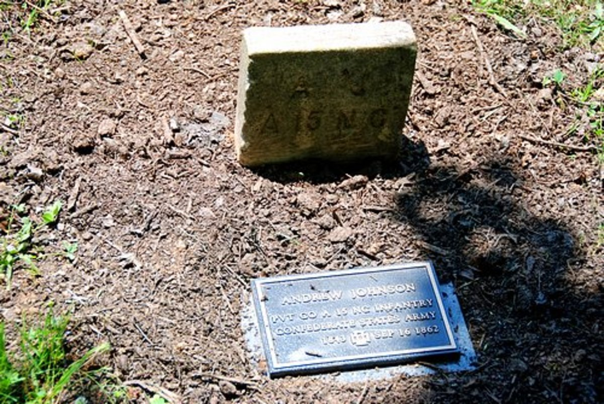 Grave Marker of Andrew Johnson, Confederate Army