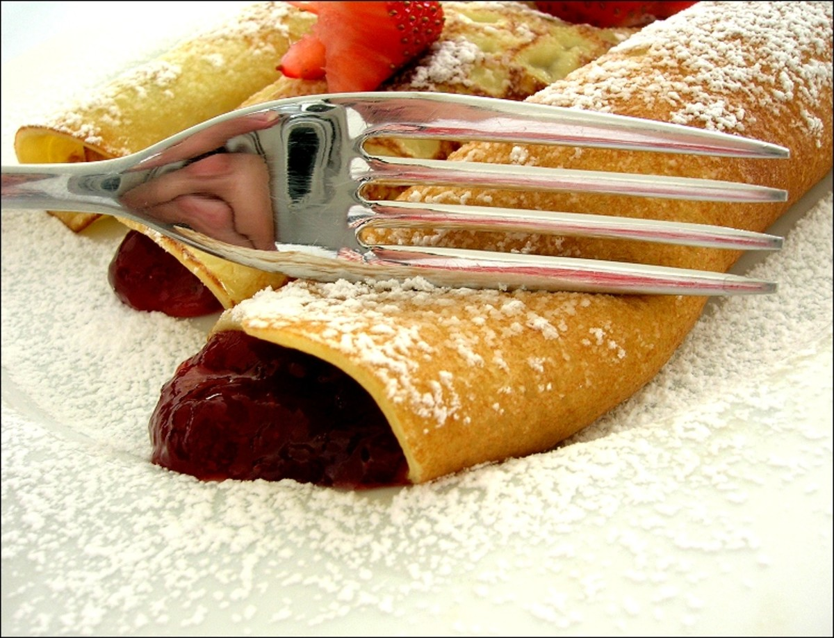 Raspberry Filled Crepes