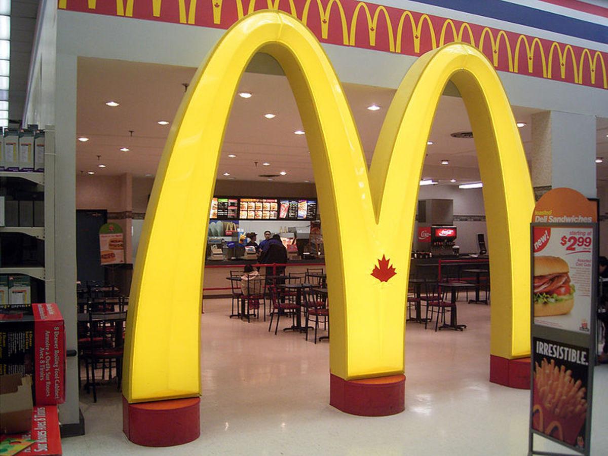 McDonalds Canada at a Wal-Mart Canada in Toronto Ontario Canada