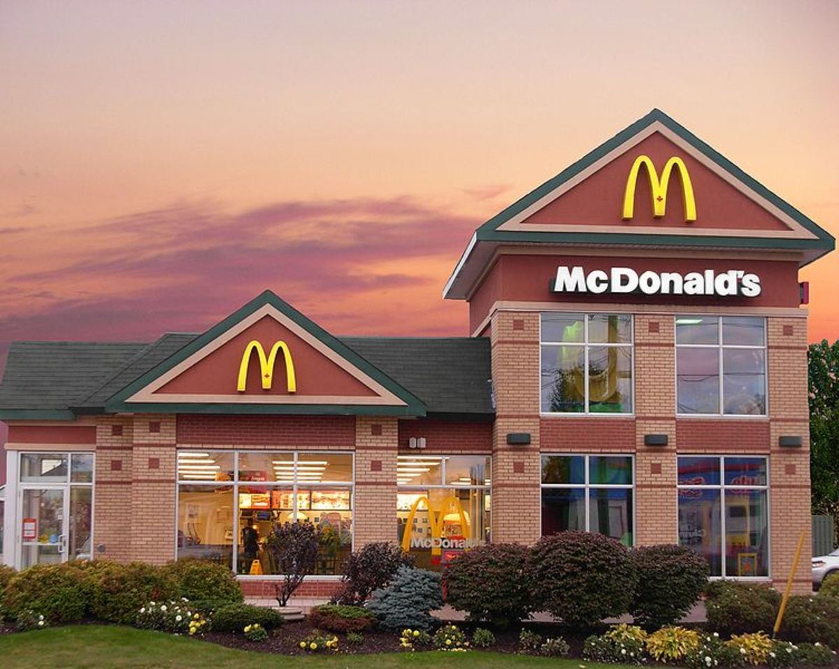 McDonalds Canada with a Playplace in Moncton New Brunswick Canada