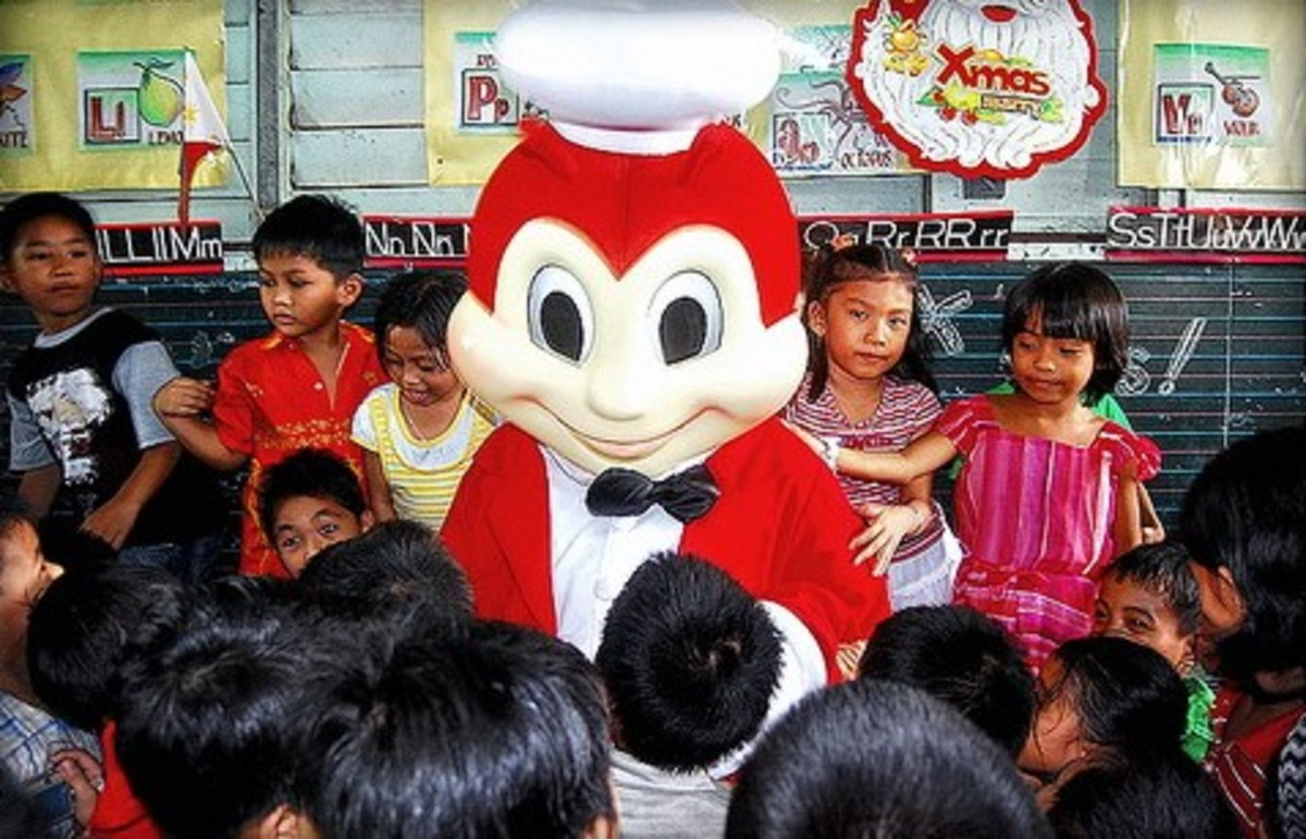 Jollibee with kids