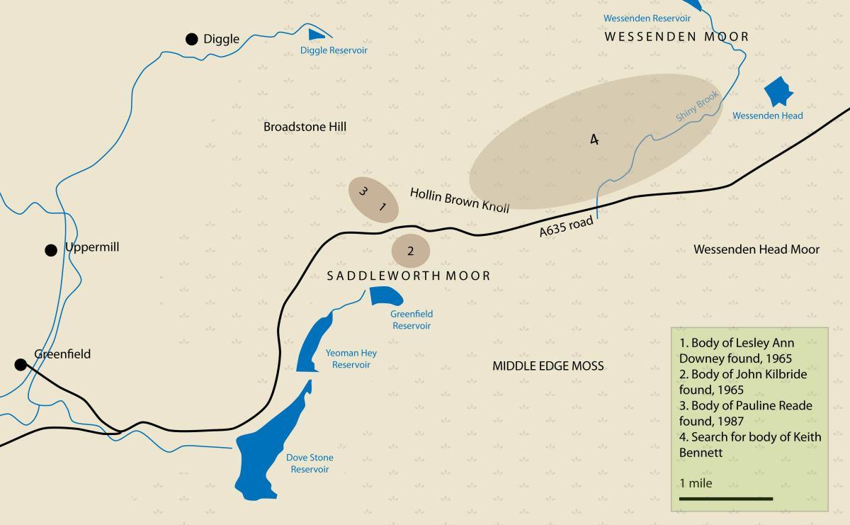 Map of Saddleworth Moor