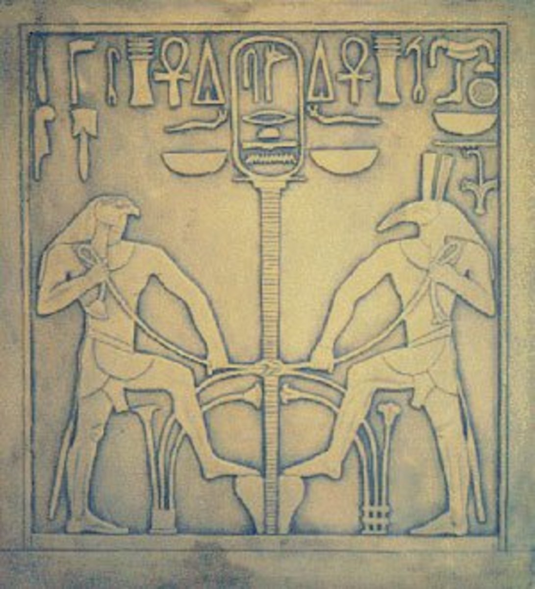 Conflict of horus and seth