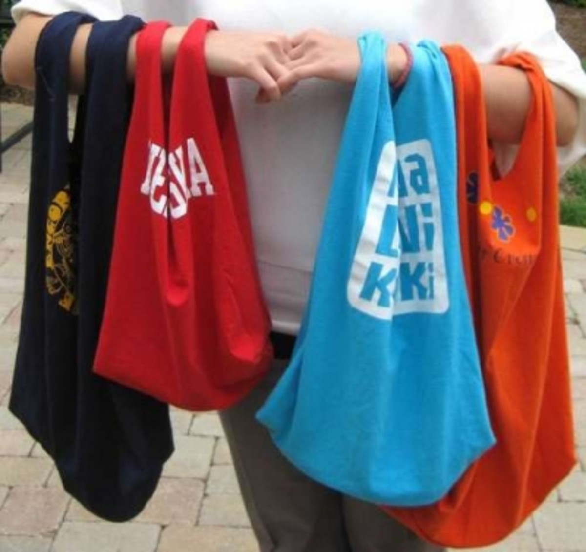 Bags Made From T-Shirts