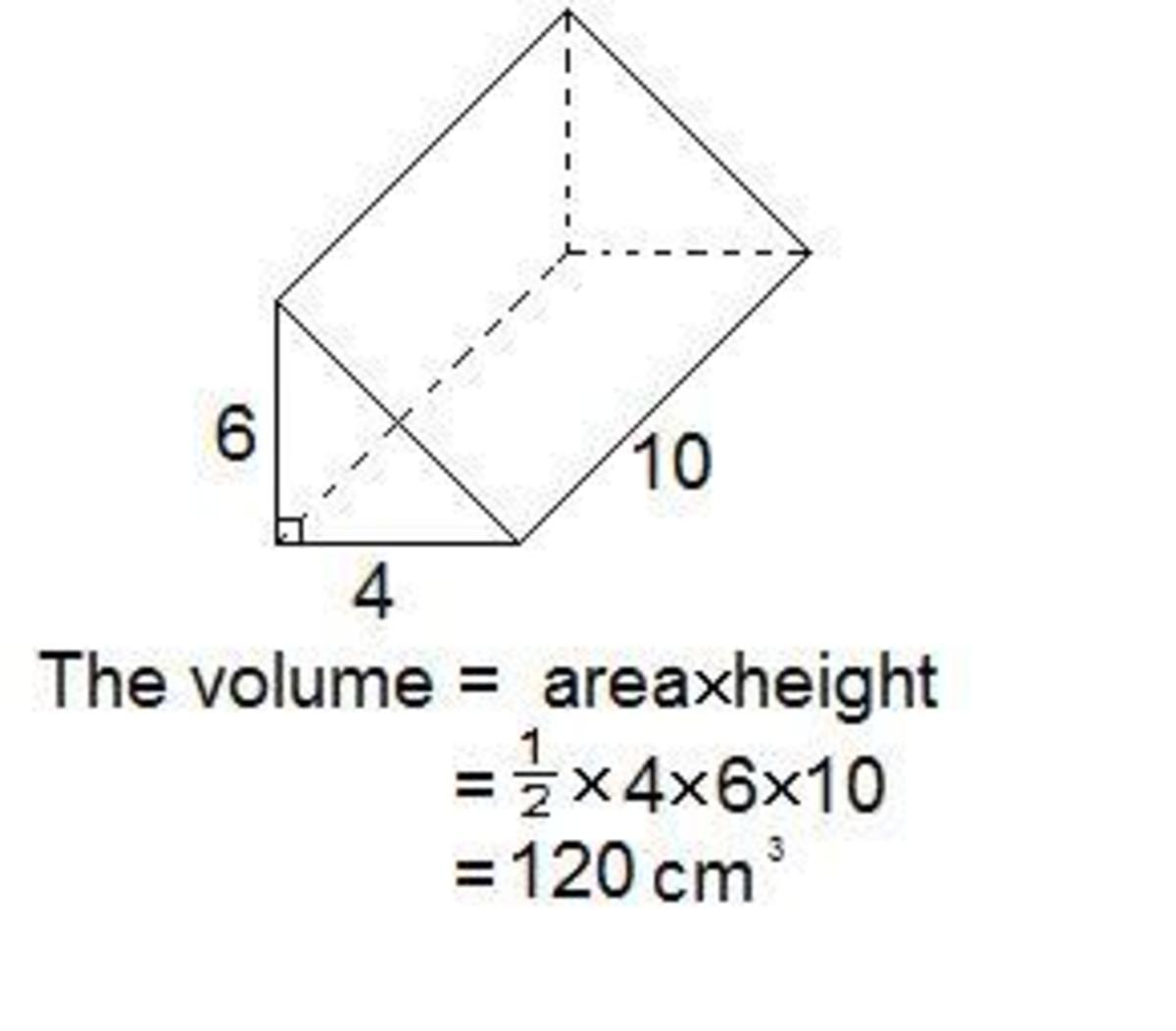 how to find the volume of a right prism