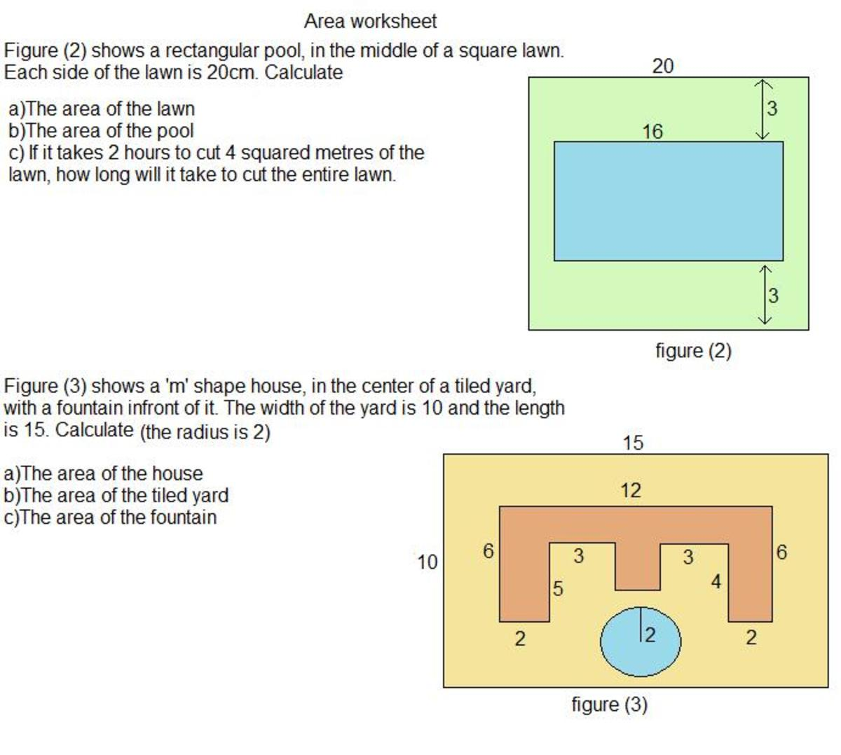 how to find the area of shapes  4