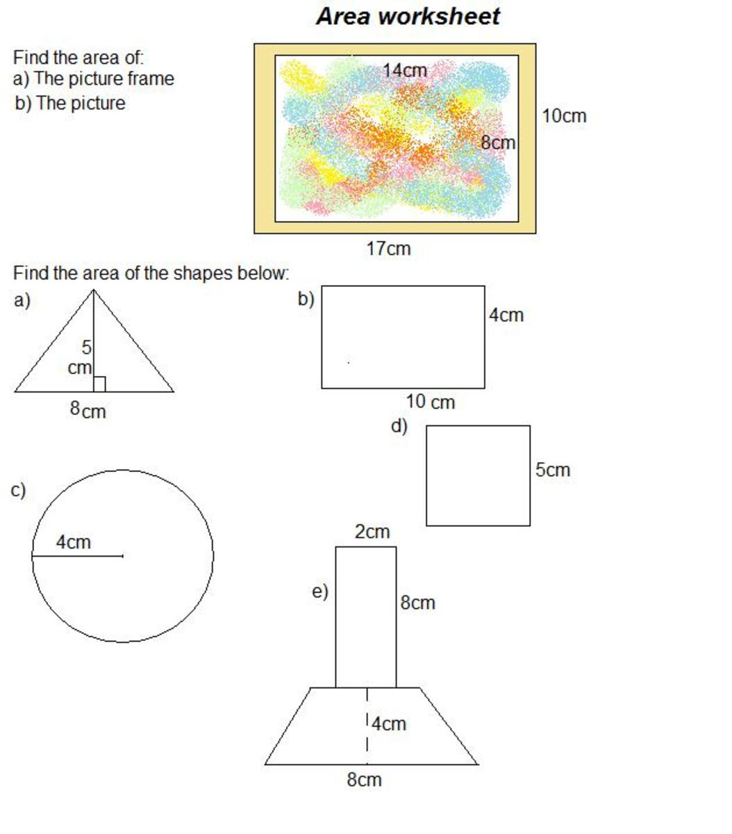how to find the area of shapes  3