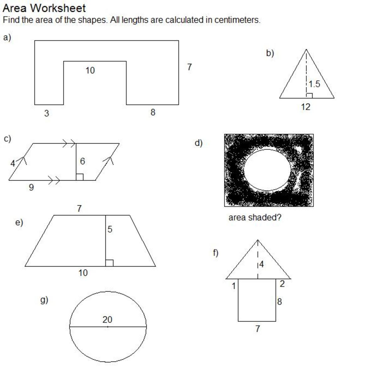 hpw to find the area of shapes 2