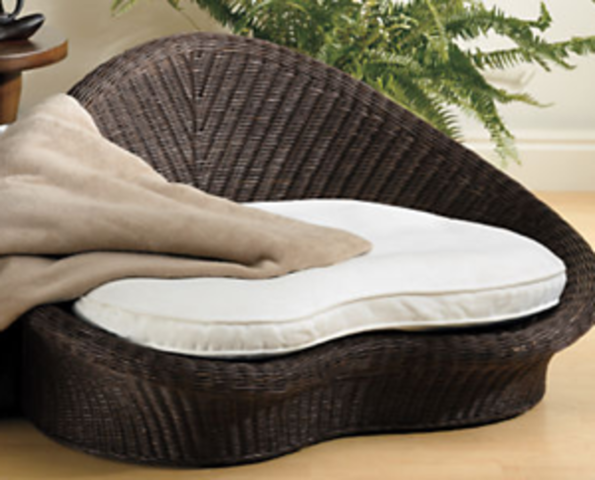 The Rattan Meditation Chair from Gaiam