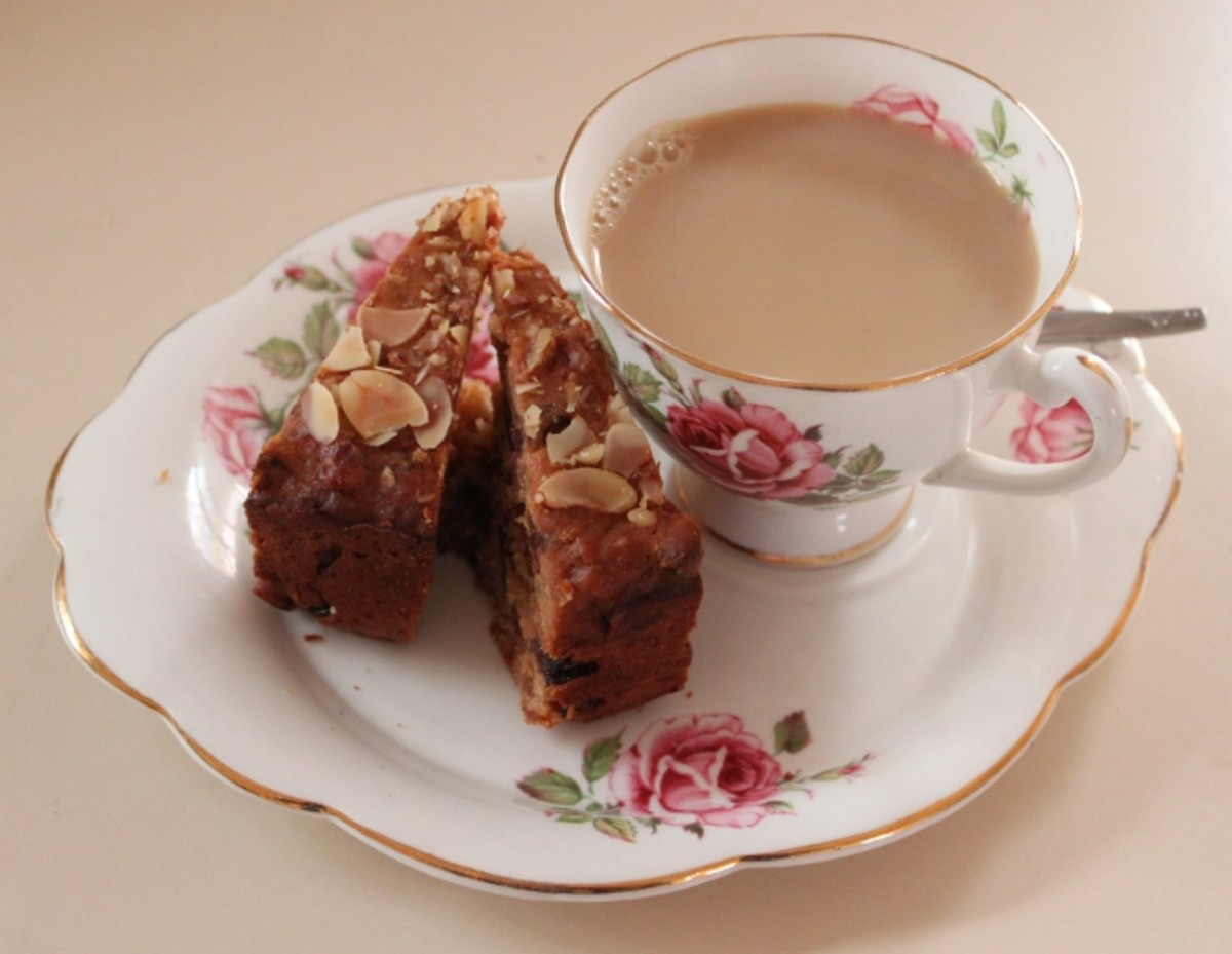 Pineapple Fruit Cake is great with a cup of Coffee!