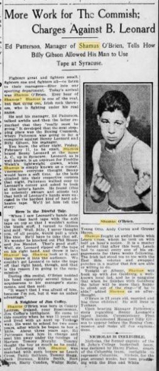 News article from the Brooklyn Daily Eagle  dated February 15, 1916.