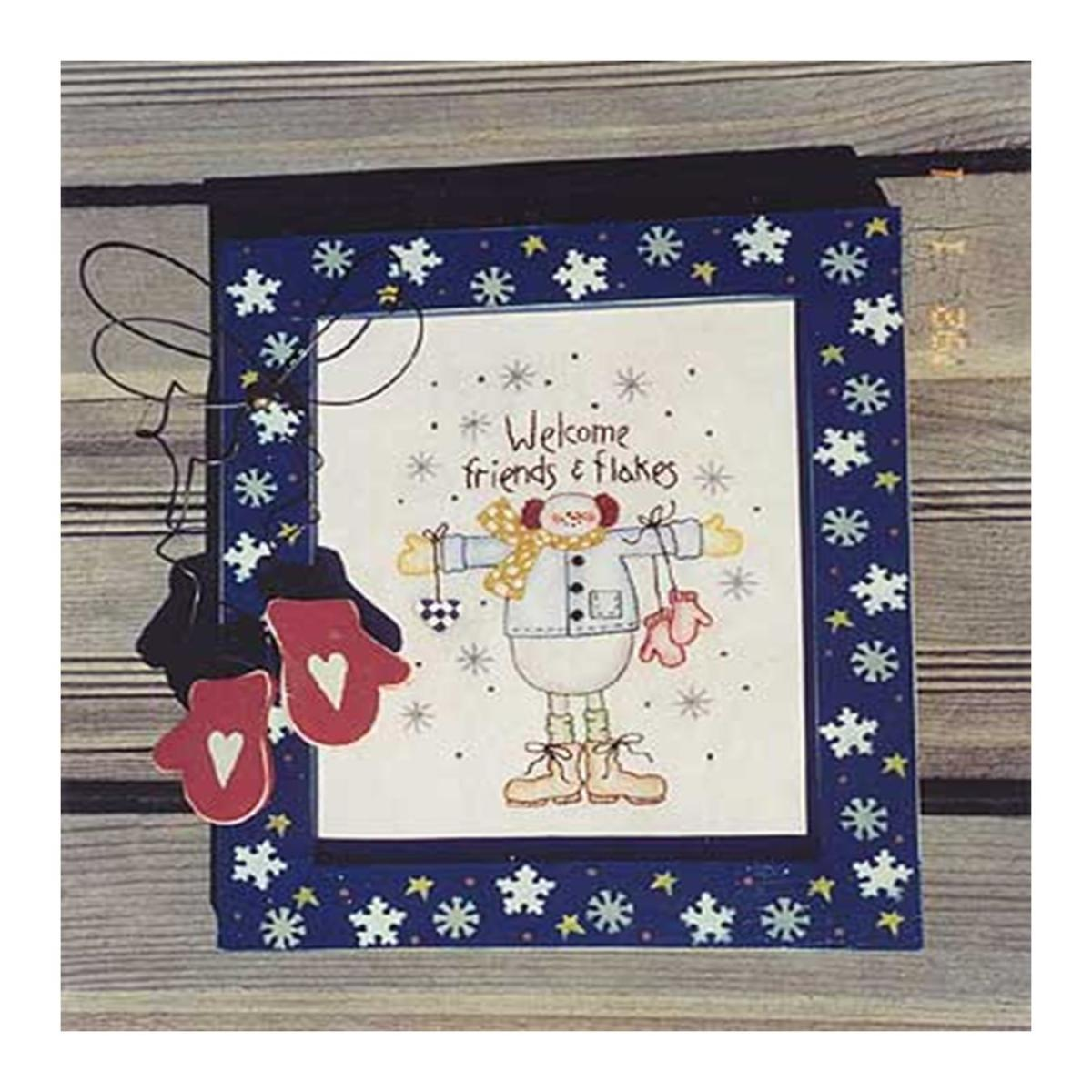 Welcome Friends and Flakes Stitch Pattern