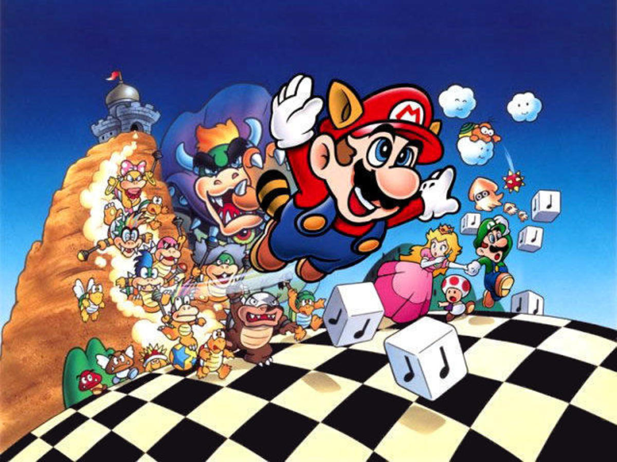 Mario Brothers Coloring Pages Color Example
