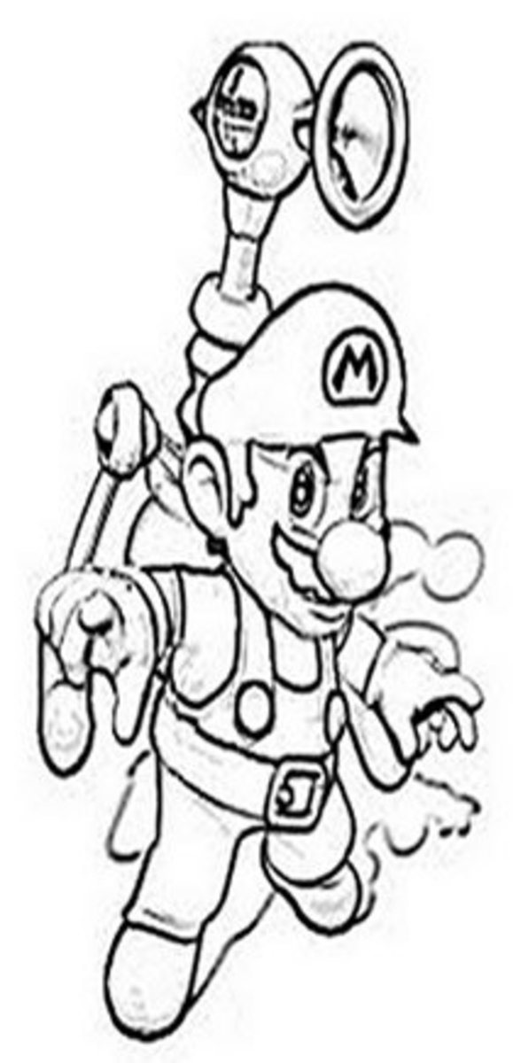 New Super Mario Bros Kids Coloring Pages and Free Colouring Pictures to Print