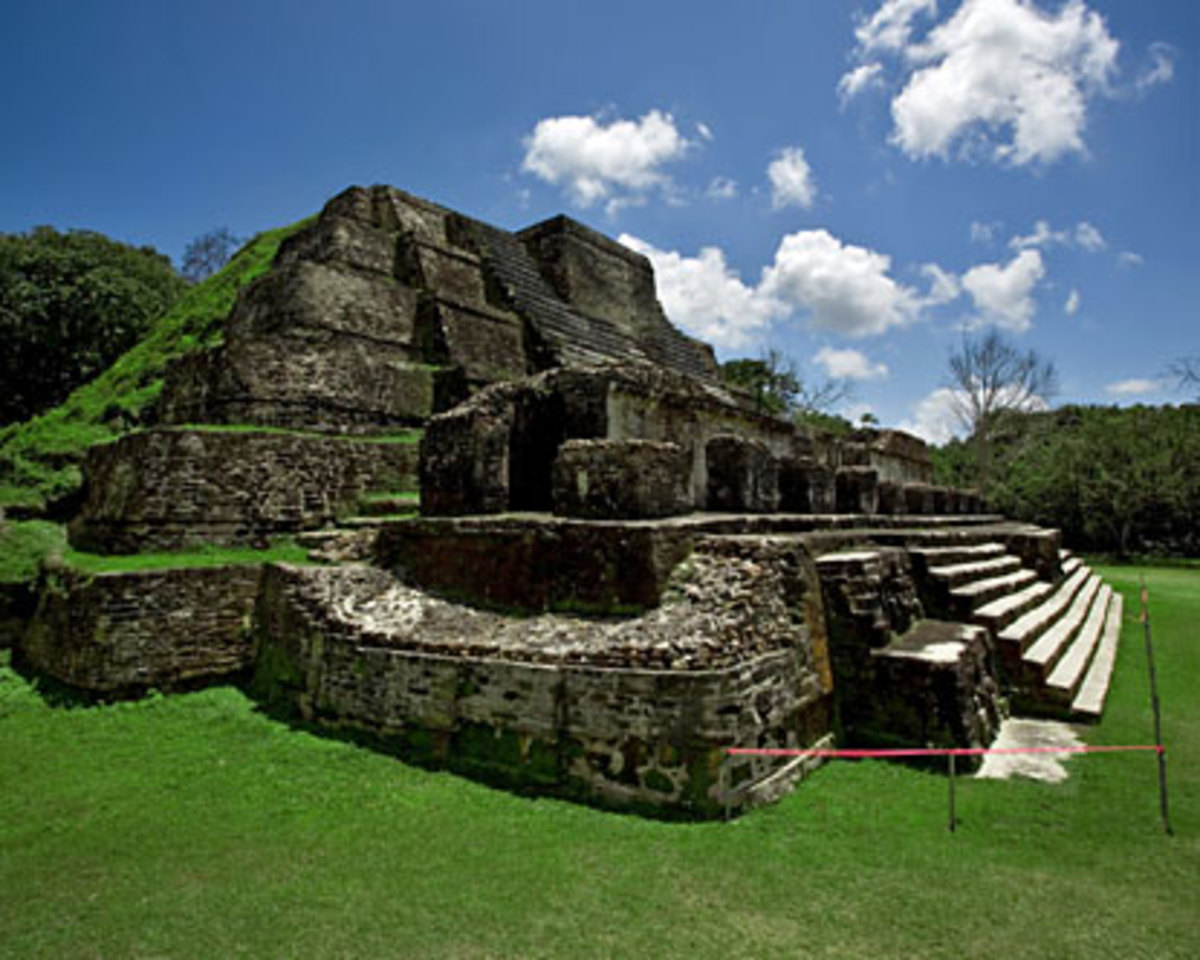 Altun ha maya ruins, belize city