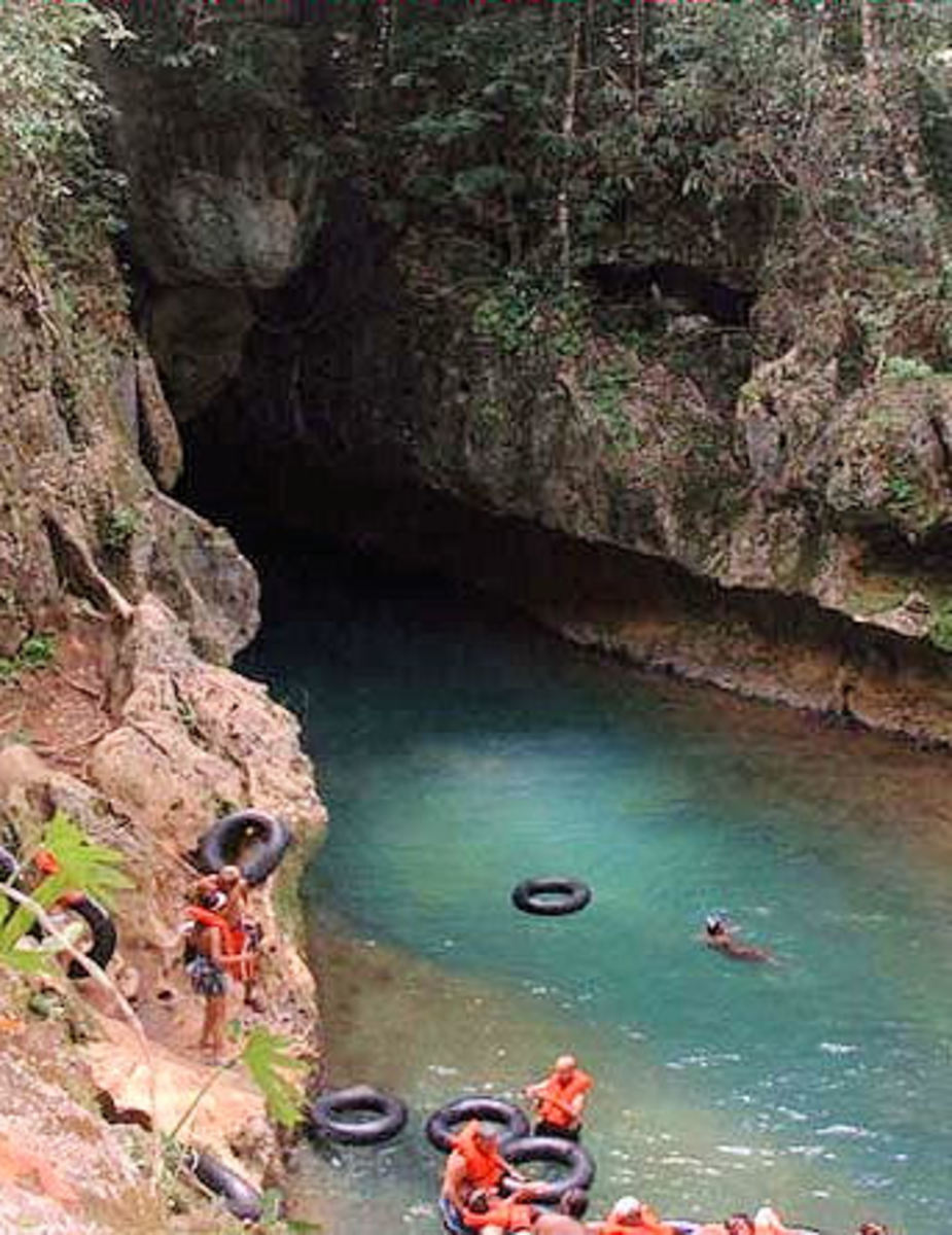 Cave tubing, Belize city, Mexico