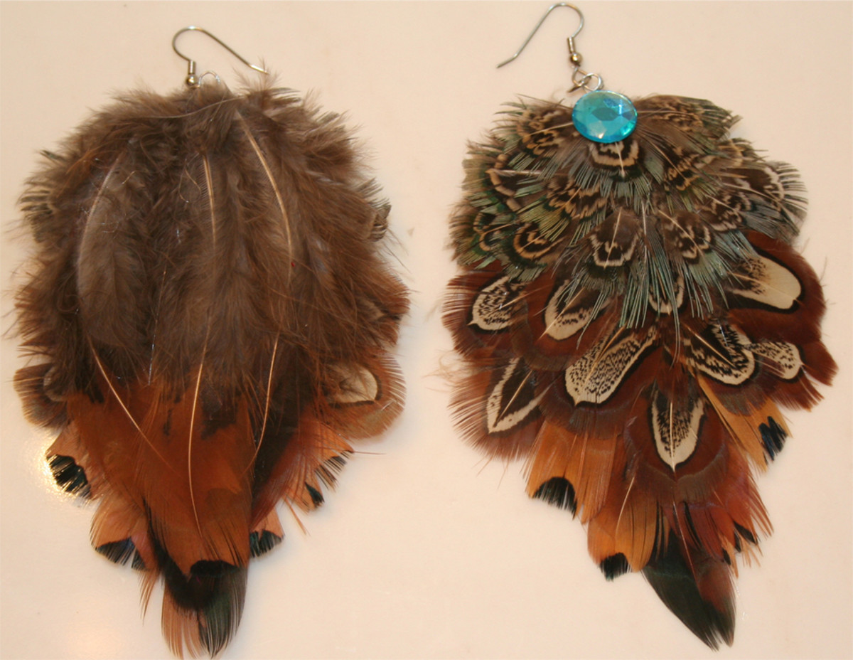 ideas-to-make-your-own-feather-earrings-brown-and-turquoise
