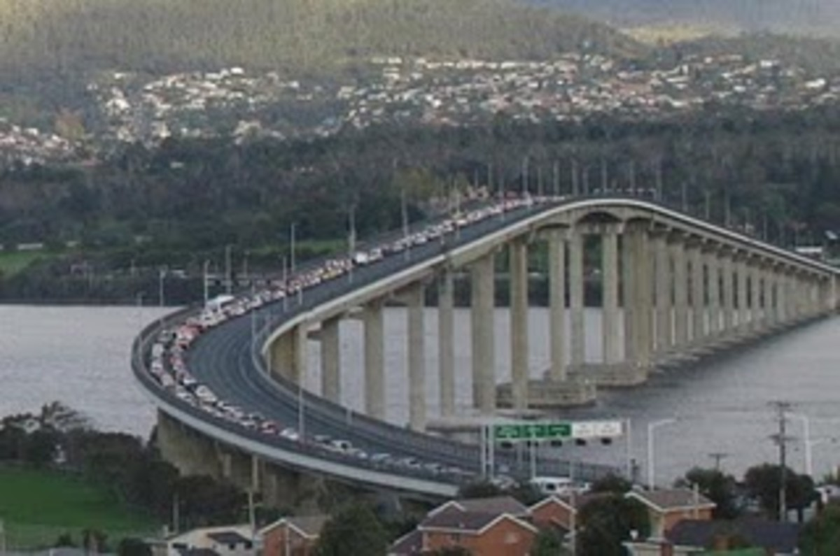Without this bridge, the city of Hobart is virtually divided into two halves.  Car ferries just couldn't cope