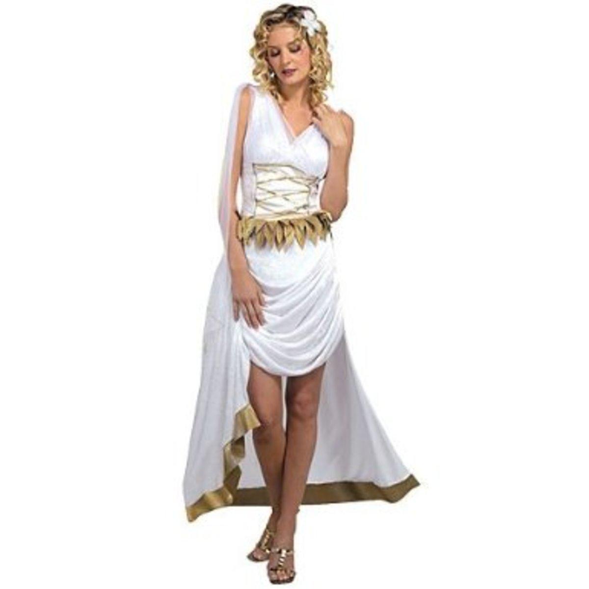 Inspirational Sexy Roman Goddess Costume