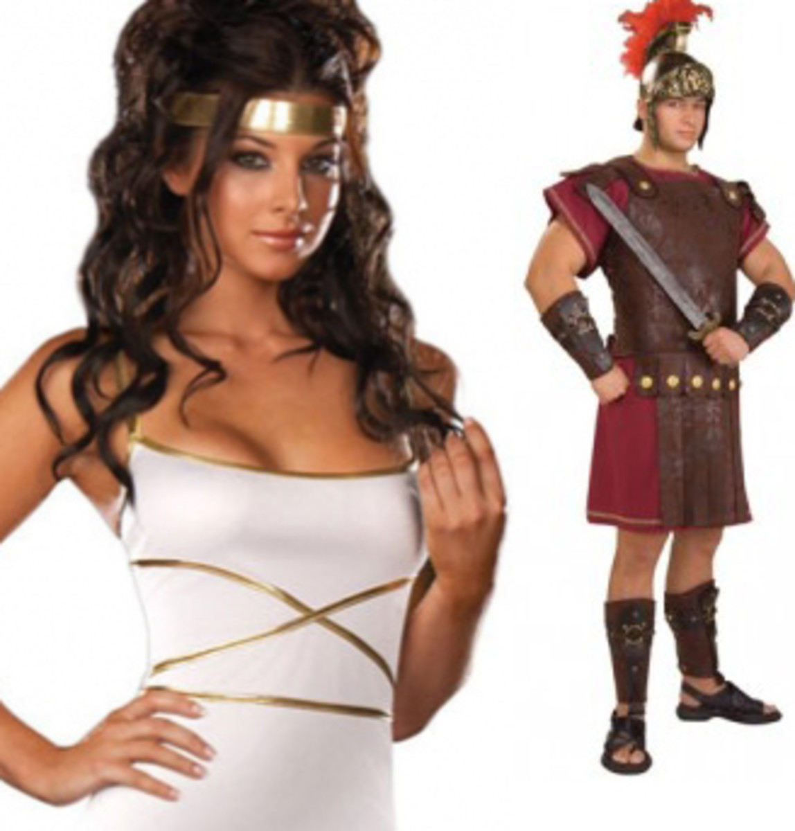 Greek Goddess and God Coordinating Costumes