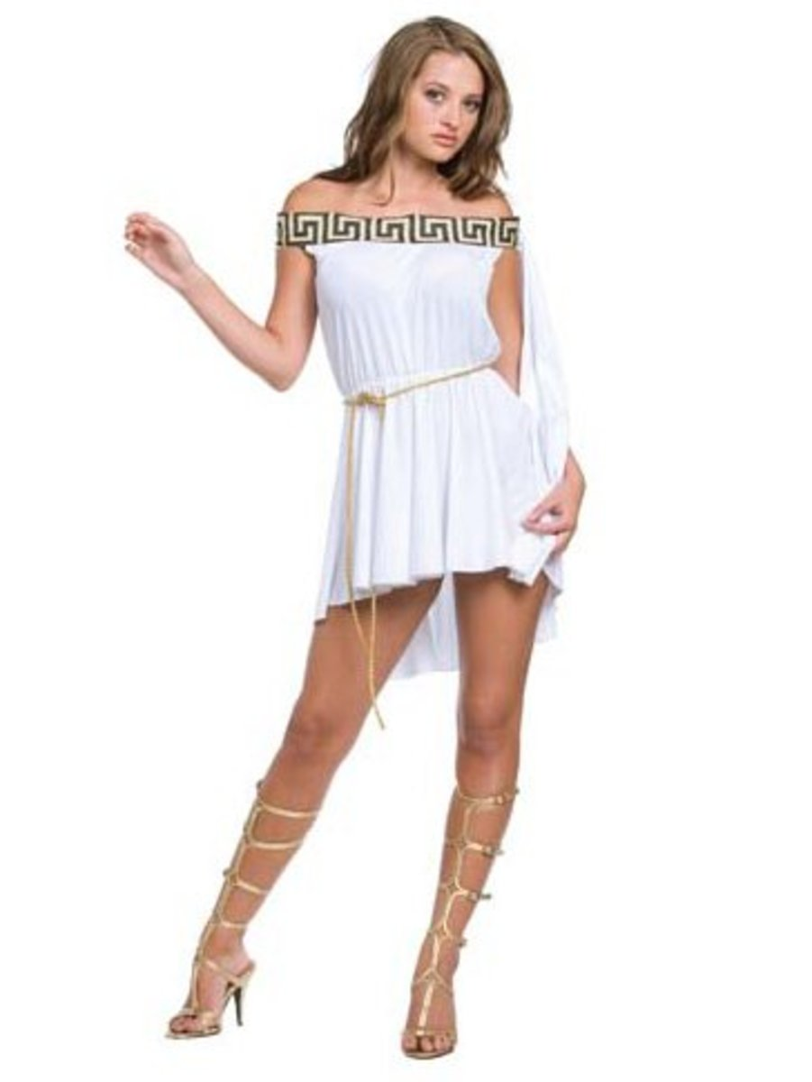 Off the Shoulder Toga style Goddess Costume