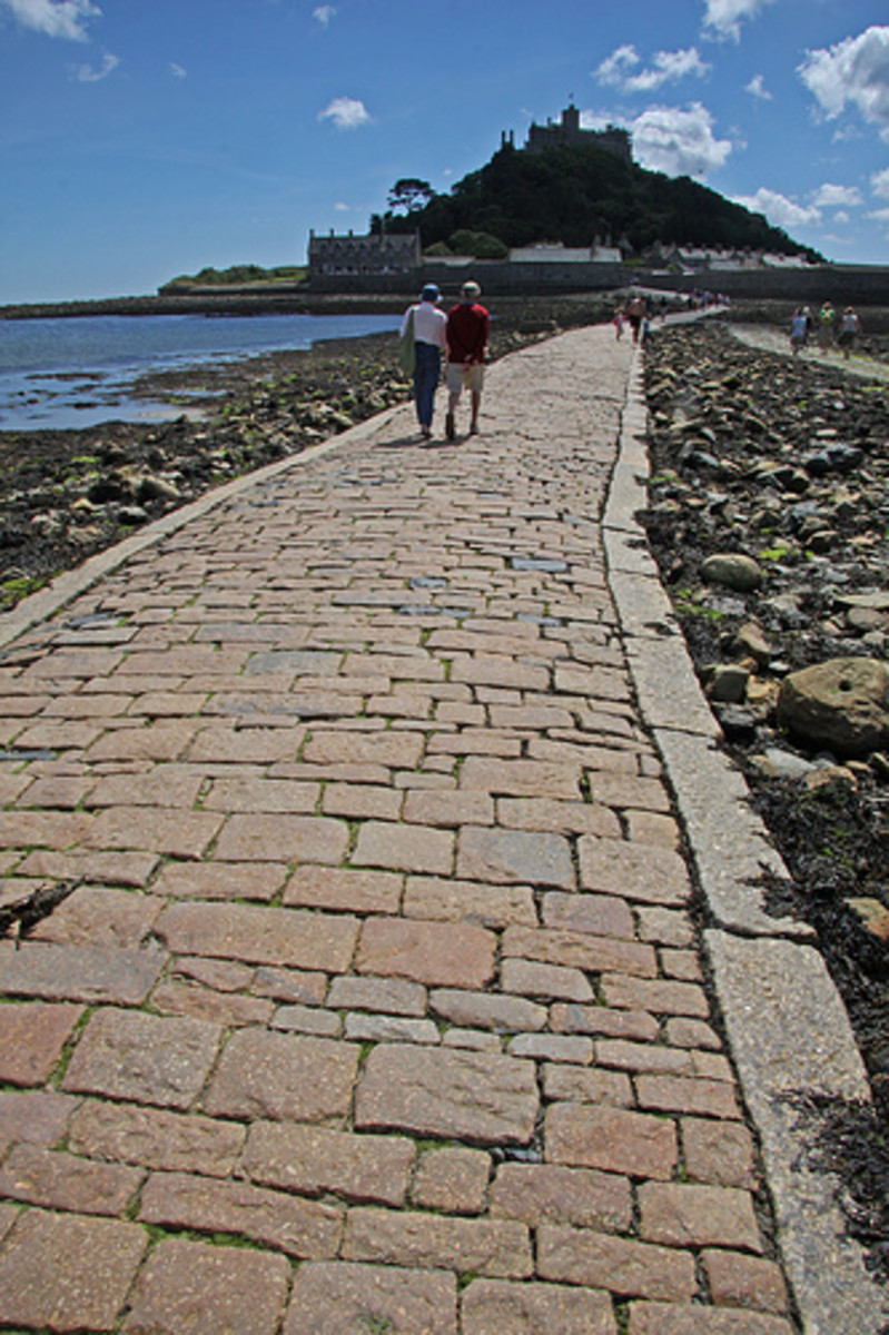 St Michael's Mount, Cornwall, England: St Michael's Mount Causeway