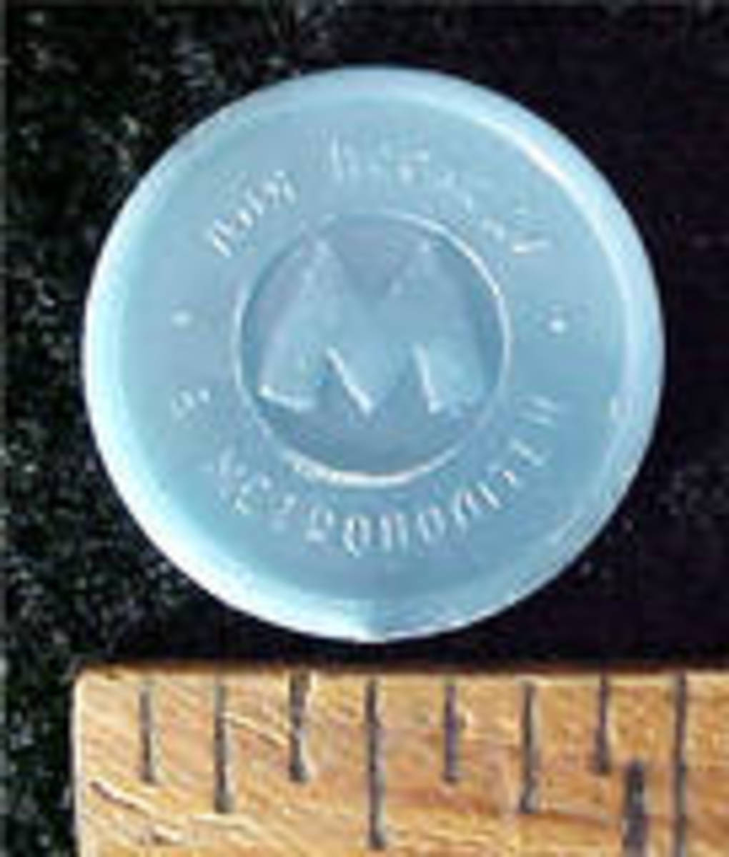 The transit token of the Moscow Metro. That name is on the lower section of the token.
