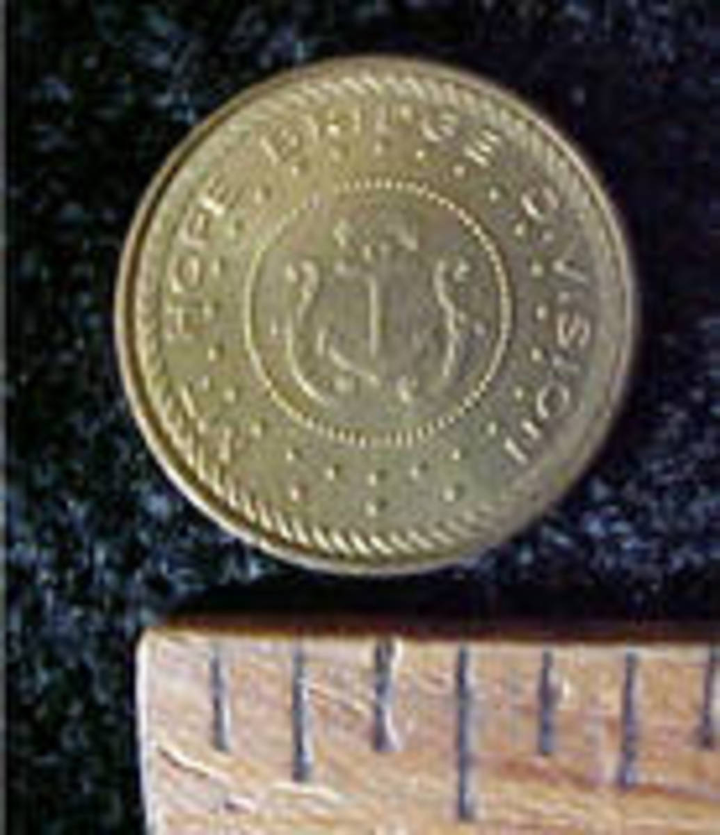 This is an example of a bridge token from Rhode Island. It is no longer a toll road.