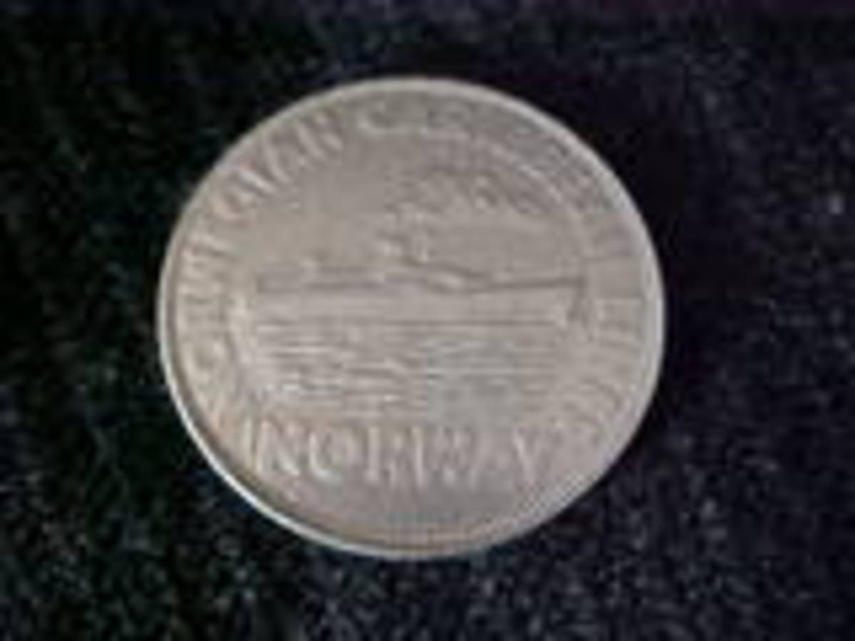 "This is a commemorative coin for the ""Norway"" cruise ship which was damaged in a fire in 2003. The Norwegian Caribbean Lines ship will not sail again."