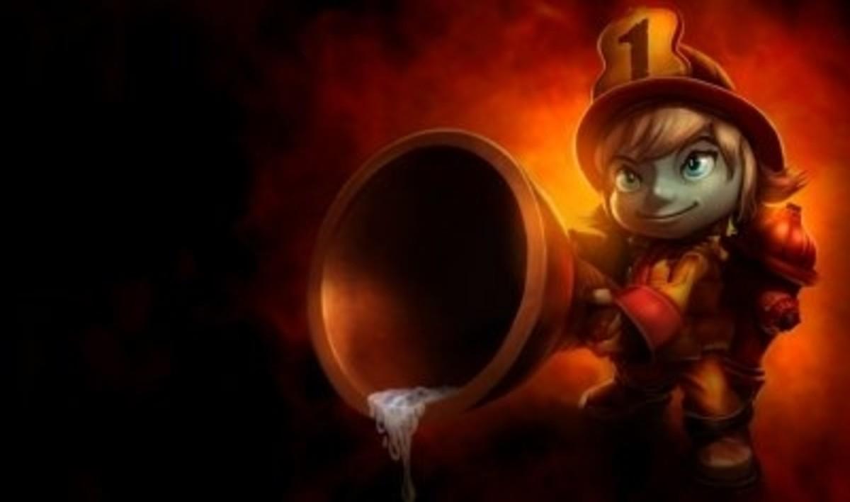 Tristana Fights Fire