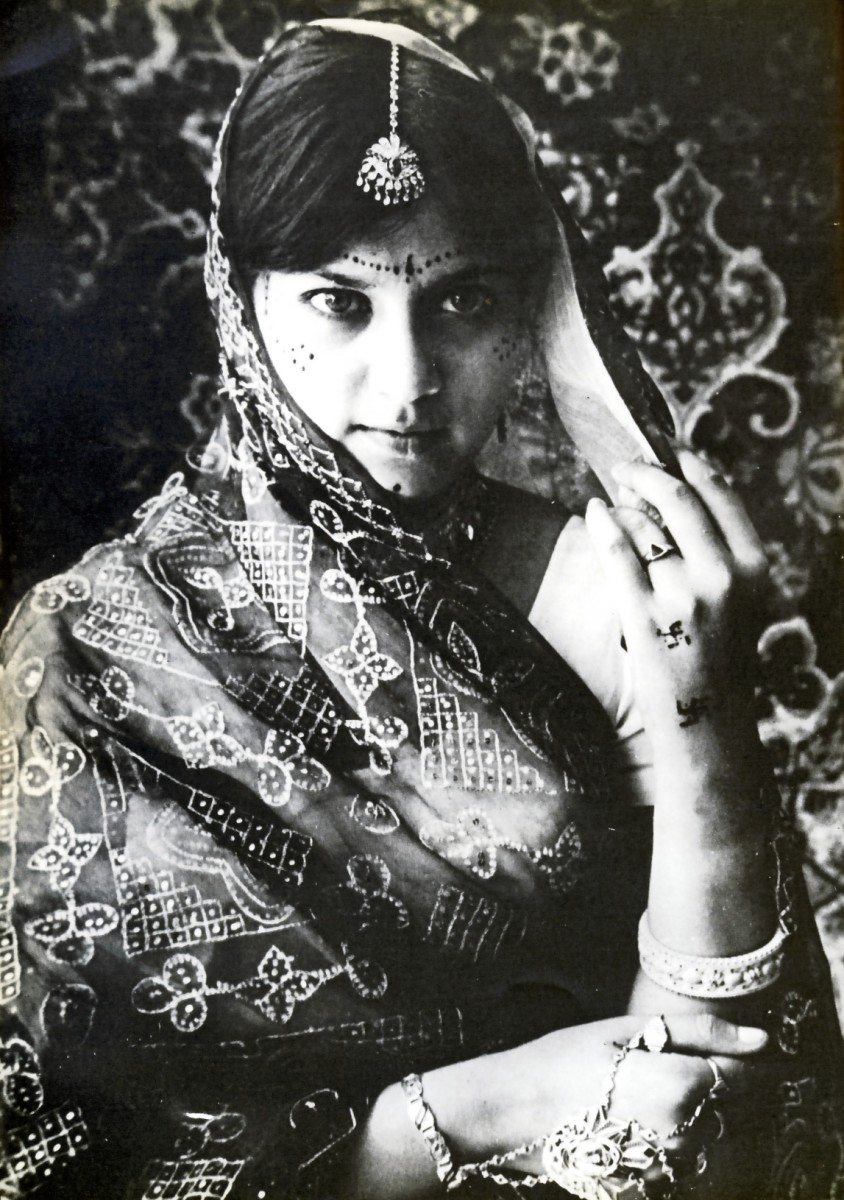 "An Indian South African bride. Image from ""Portrait of Indian South Africans"" by Fatima Meer."