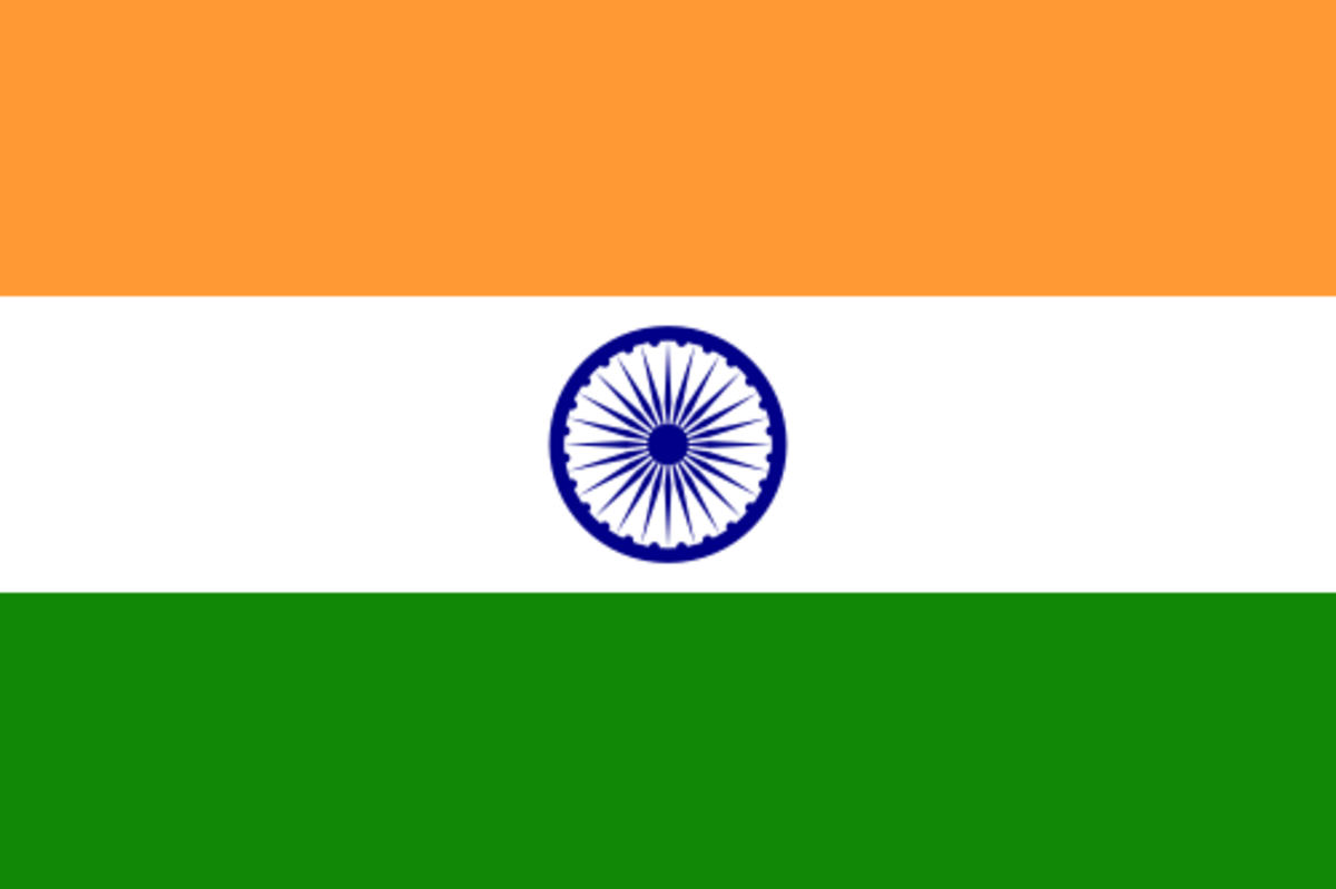The flag of the Republic of India