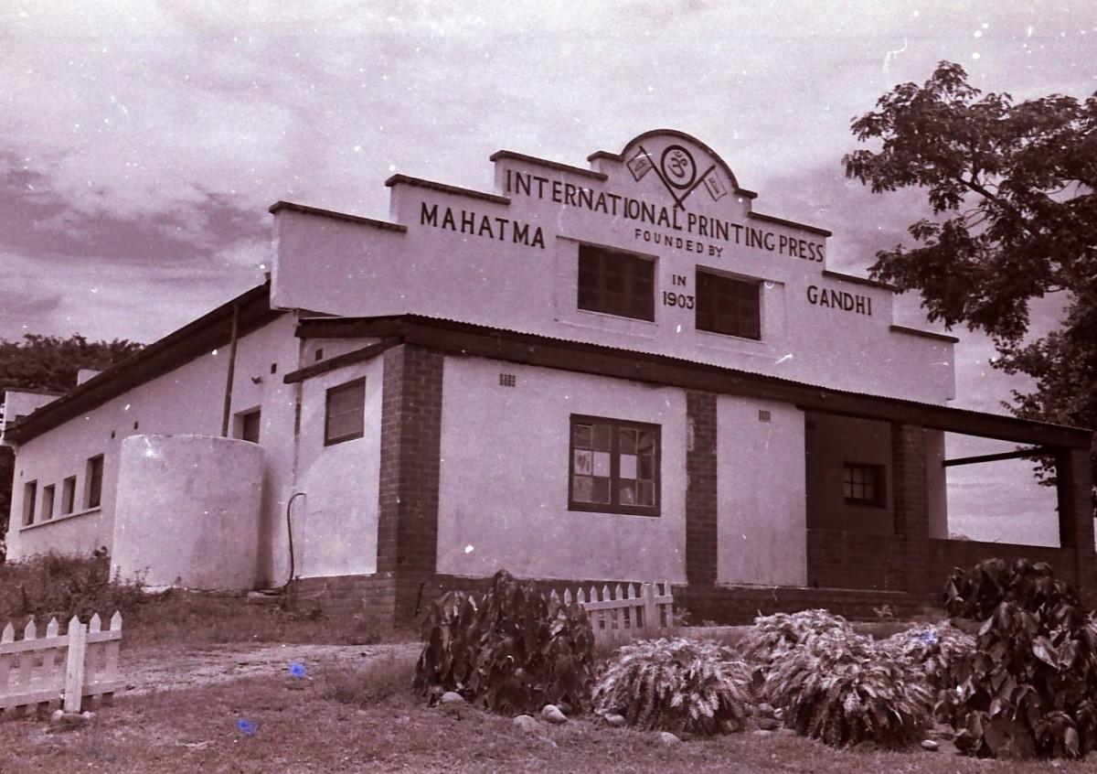 Building that housed Gandhi's printing press on the Phoenix Settlement near Durban. Photo Tony McGregor