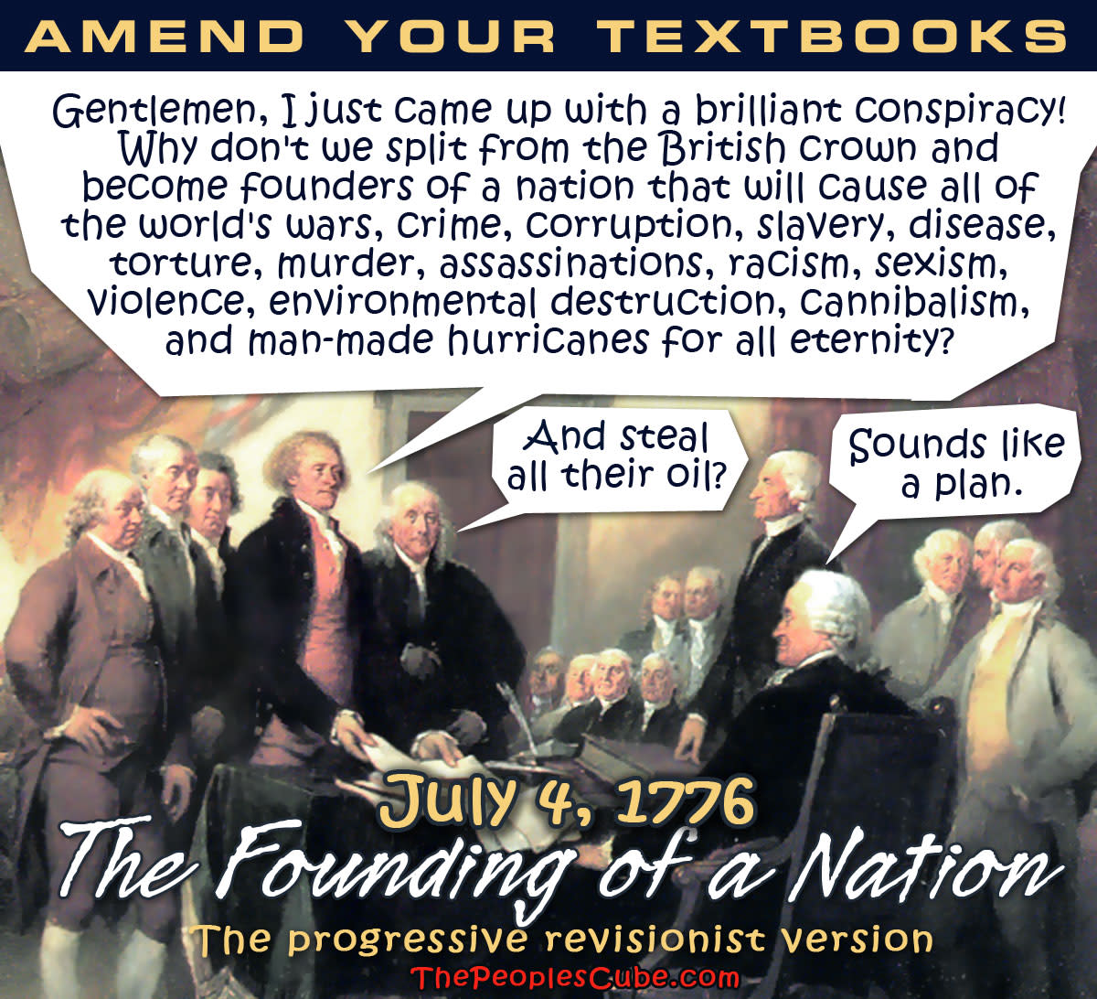 """PROGRESSIVE VIEW OF THE FOUNDING FATHERS (EXCUSE ME: """"FRAMERS"""")"""