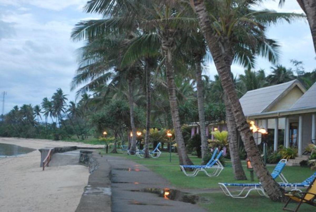 Torch lighting in Fiji