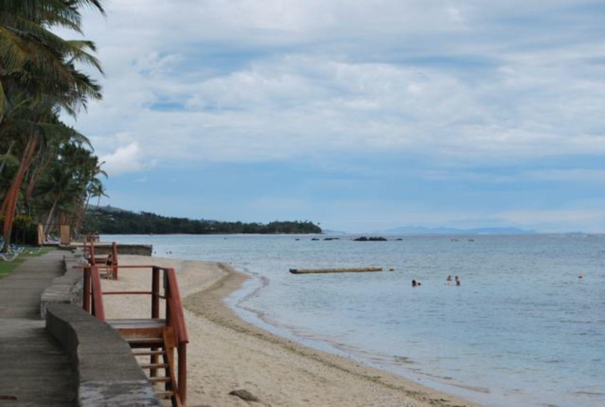The coral coast in Fiji