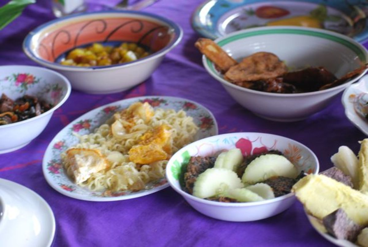 Village feast in Fiji
